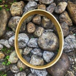Ei - vormig sjamaandrum frame